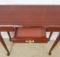 Narrow Mahogany Side Table Lacquered Polish Finish