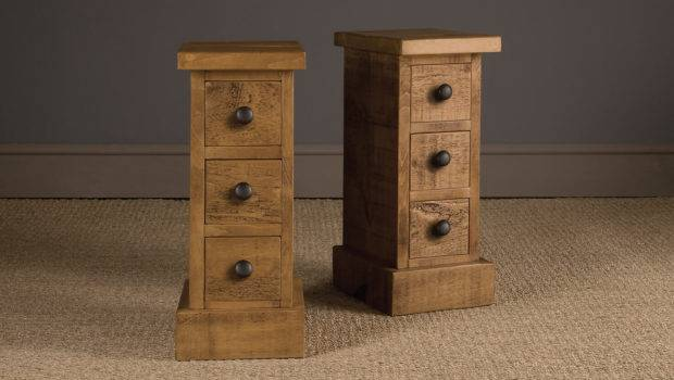 Narrow Plank Bedside Table Handcrafted Indigo Furniture