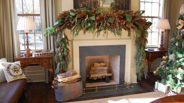 Natural Greenery Christmas Mantel Southern Living Idea House