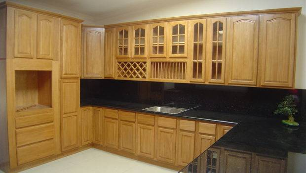 Natural Oak Kitchen Cabinets Solid All Wood Cabinetry