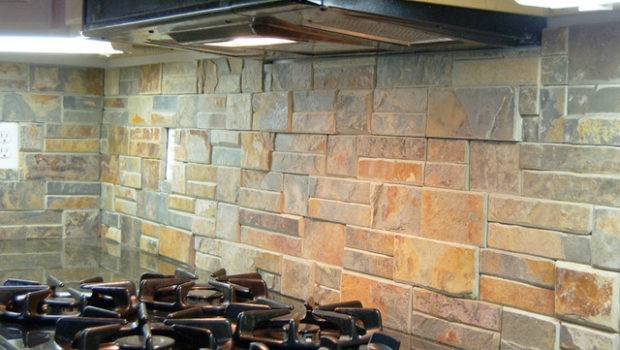 Natural Stone Back Splash Traditional Kitchen