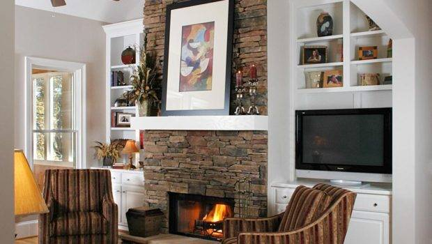 Natural Stone Fireplaces Living Room Dining Decorating