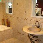 Natural Stone Tiles Included Contemporary Bathroom Design