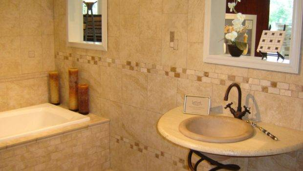 Natural Stone Tiles Included Contemporary Bathroom