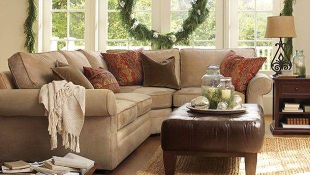 Neutral Couch Room Pottery Barn Traditional