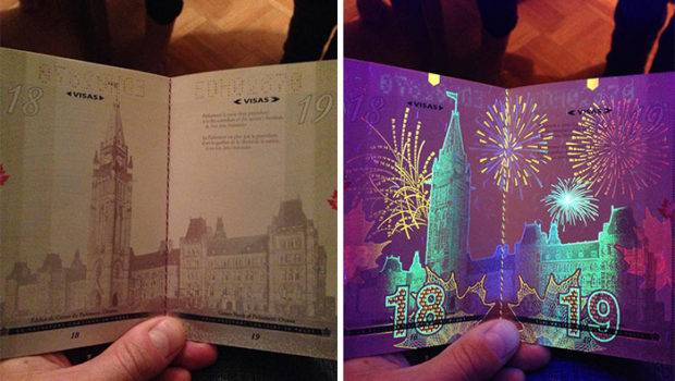 New Canadian Passport Has Cool Secret Revealed Only Under Blacklights
