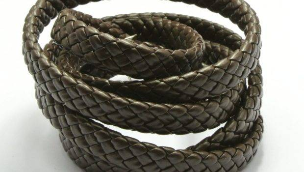 New Faux Leather Rope Brown Knitted