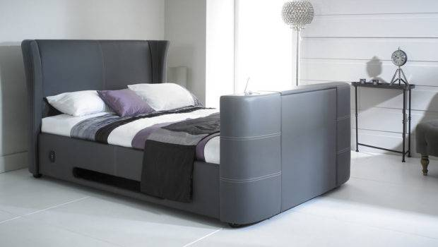 New Grey Double Leather Music Bed Built