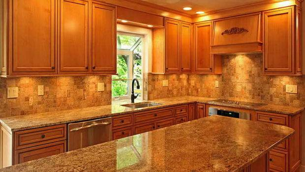 New Venetian Gold Granite Kitchen Backsplash Ideas Nice