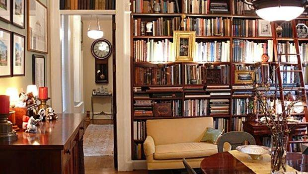 New York Apartment Style Decorating Book Shelves Library Home Eclectic