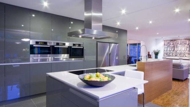 Next Contemporary Kitchen Living Room Design Impression Overall