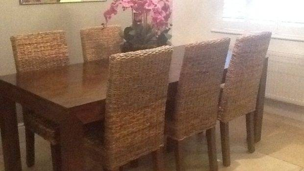 Next Mango Dining Table Six Chairs Ebay