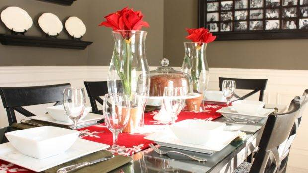Nice Christmas Dining Room Table Decorations