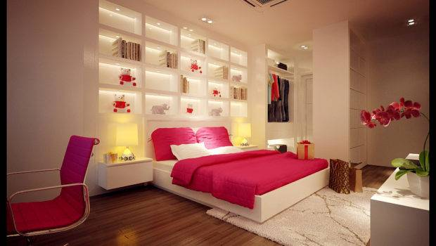 Nice Design Pink White Bedroom