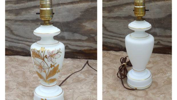 Nightstand Lamp Small White Hand Michelleandcovintage