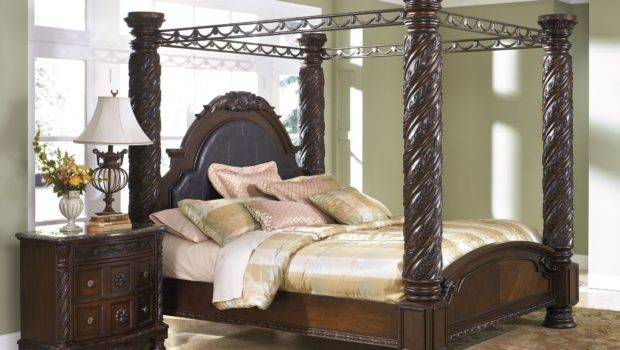 North Shore King Poster Bed Canopy Ashley