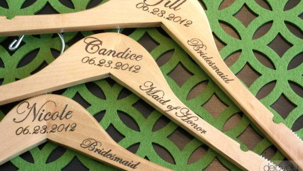 Notched Custom Personalized Wedding Hanger Delovelydetails