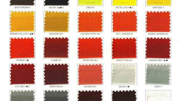 Nylon Flag Color Chart Flags Unlimited Las Vegas
