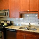 Ofbrown Cabinet Granite Countertop Sink Tile Ideas White Subway Modern