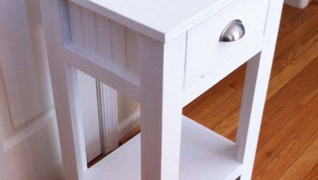 Off White Night Stands Narrow Bedside Table Modern