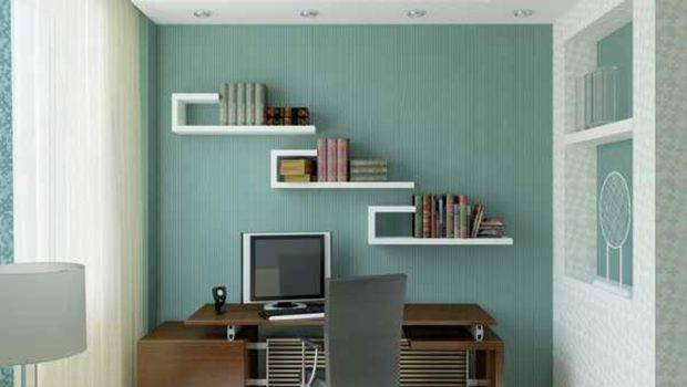 Office Design Home Ideas Small Spaces Blue Wall Paint
