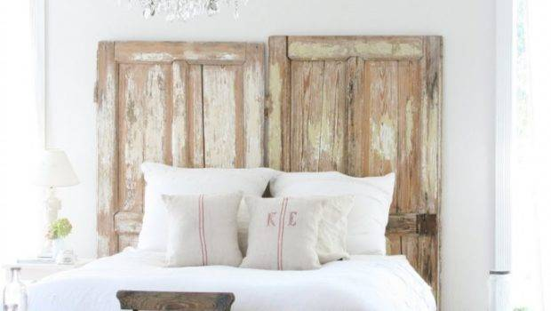 Old Doors Used Dramatic Headboard Decoholic