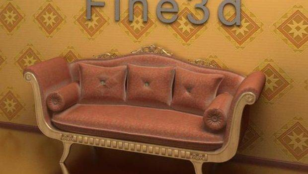 Old Fashioned Sofa Model Max Obj Cgtrader