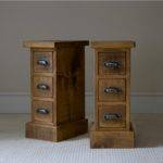 Old Vintage Pair Small Bedside Nightstand Table Ideas Made