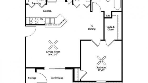 One Bedroom Apartment Floor Plans Inspiring Home Design Ideas