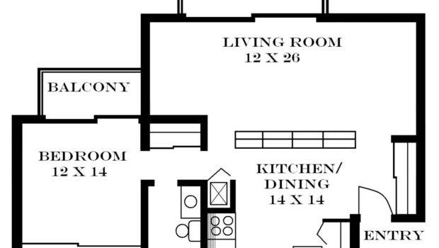 One Bedroom Apartment Layout Appealing Plan Ebedroom