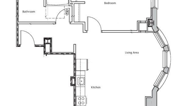 One Bedroom Apartment Plan Complex Small