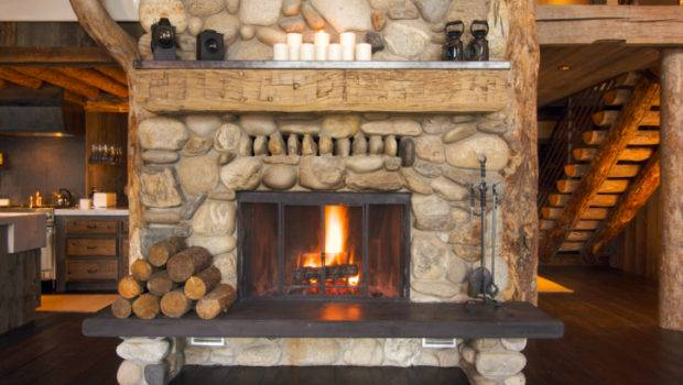 One Our Favorites Rustic Fireplace Log Cabin