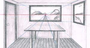 One Point Perspective Drawing Easy