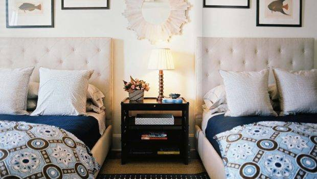 One Room Two Beds Ideas Guest Rooms Double Bed Sets Megan
