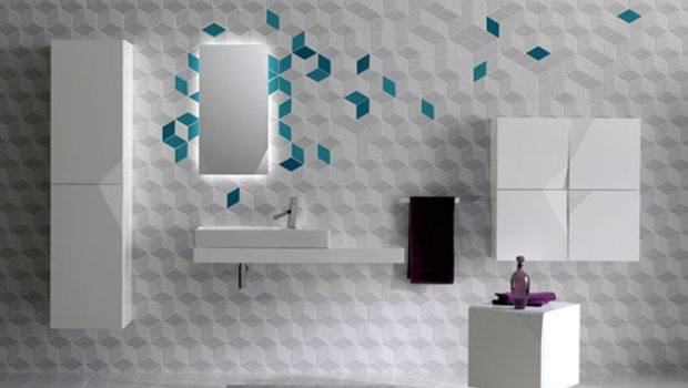 One Total Snapshots Modern Futuristic Bathroom Wall Tile Designs