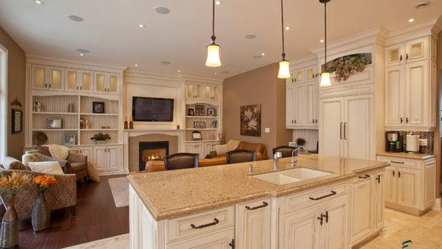 Open Concept Living Room Kitchen Dining Storage