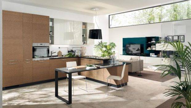 Open Kitchen Living Room Space
