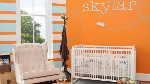 Orange Contemporary Baby Nursery Hgtv