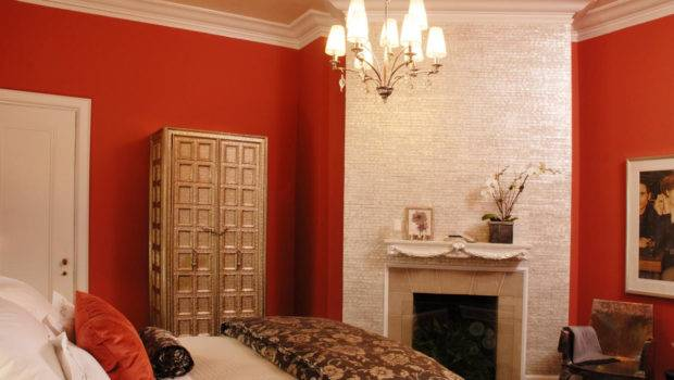 Orange Red Combination Double Wall Color Home Combo