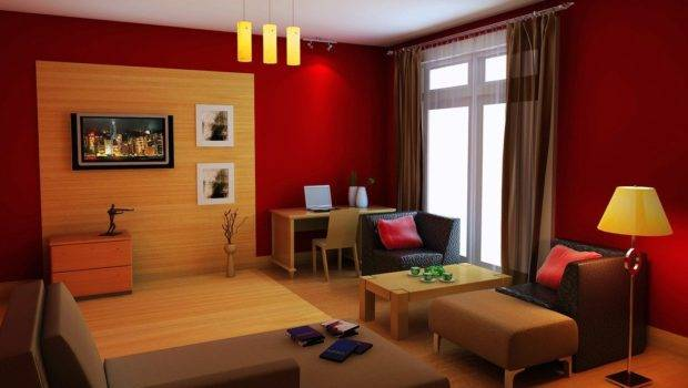 Orange Yellow Red Villa Interior Design House