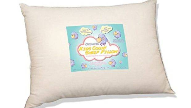 Organic Toddler Pillow Kids Count Sheep Hypoallergenic