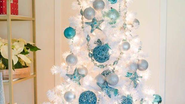 Our Cute Blue White Christmas Tree Trees