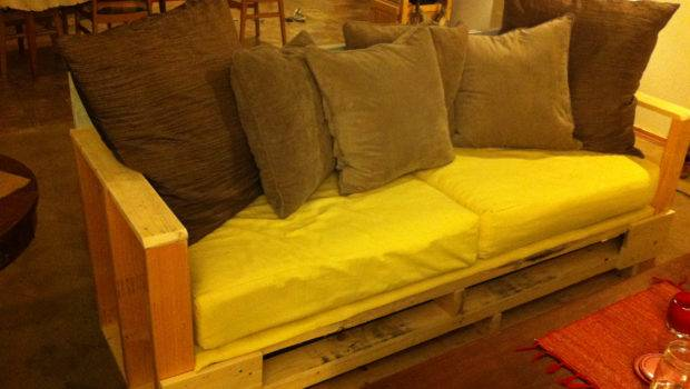 Our Homemade Couch Pallet Home Pinterest