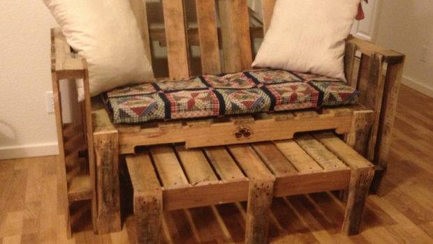 Our Pallet Couch Homemade Cushions Crafty Pinterest