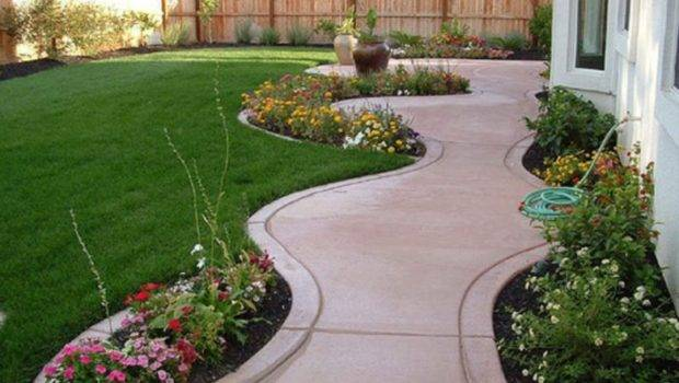Outdoor Gardening Island Front Yard Cheap Landscaping Ideas