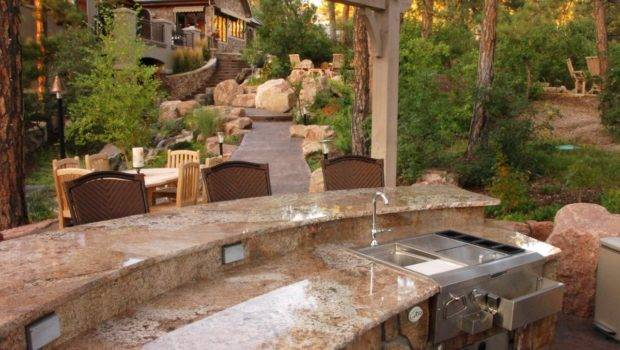 Outdoor Kitchens Traditional Style Bar Boulder Grill
