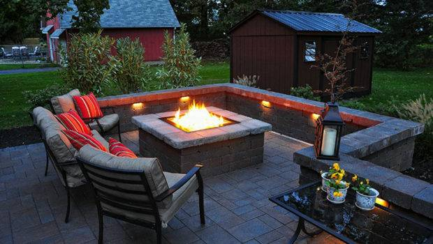 Outdoor Patio Fire Pit Landscaping Gardening Ideas