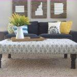 Own Fabric Ottoman Coffee Table Square