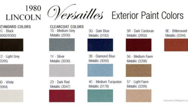 Paint Color Chips Codes Lincoln Versailles