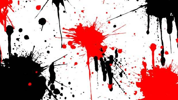 Paint Splatter Black Red Sequel
